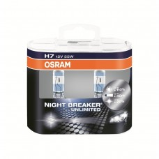 Лампы H7 OSRAM NIGHT BREAKER UNLIMITED 110% Plus (к/т-2шт)